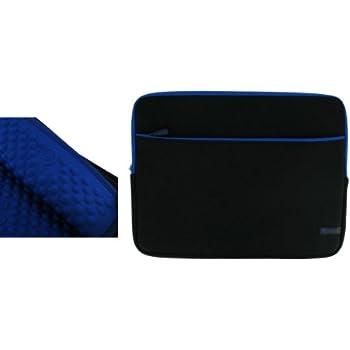 rooCASE 11.6 Laptop Sleeve Laptop Neoprene Sleeve Case Notebook Bag Water Resistant (Black with Blue Trim)