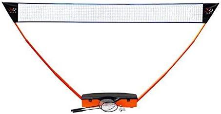 XQmax Komplettes mobiles Premium Badminton Set inklusive Schläger, Netz und Bällen für die ganze Familie