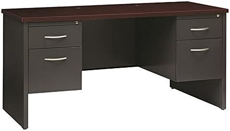 Hirsh industrias Modular doble Credenza escritorio en color gris y ...