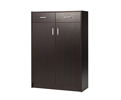 BuyHive Shoe Storage Cabinet Door Open Hallway Entryway Footwear Organizer Rack (Hallway Cabinet Doors)