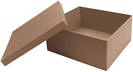 amazon com dcc paper mache square box 7 by 7 by 3 inch