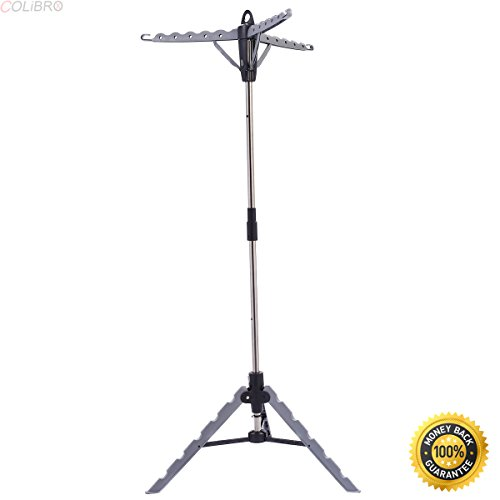 COLIBROX--Clothes Hanger Drying Portable Multifunctional Retractable Laundry Racks Tripod,outdoor clothes drying rack,drying rack target,drying rack clothes,best clothes drying rack