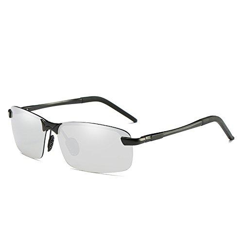 gafas aluminio sin gafas polarizadas Silver reborde de guiar Mens UV400 polarizadas gafas para clásicas TIANLIANG04 oro ngSxwqPR