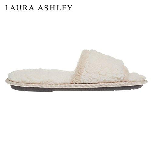 Laura Ashley Femmes Dames Spa De Luxe Sherpa Une Bande Avec Des Pantoufles En Mousse Mémoire (voir Plus De Couleurs Et Tailles) Macaron