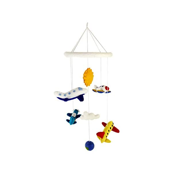 Airplane Flying Jet Planes Nursery Mobile for Baby's Room Crib Decoration