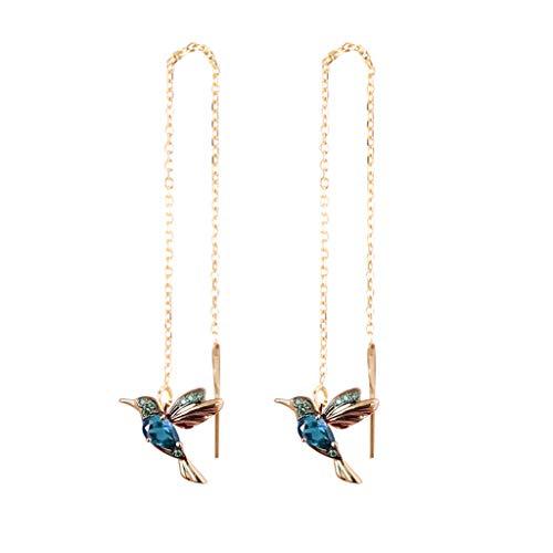 ZTY66 Hummingbird Rhinestone Stud Earrings, Ladies Elegant Simple Jewelry Earrings Long Earrings, Fashion Jewelry Drop Hook Earrings Long Pendant Dangle Jewelry for Women