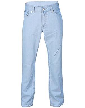 Men's Straight Leg Natural Flap Pocket Denim Jeans