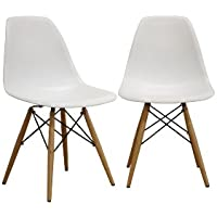 Baxton Studio LAC Plastic Side Chair Set of 2