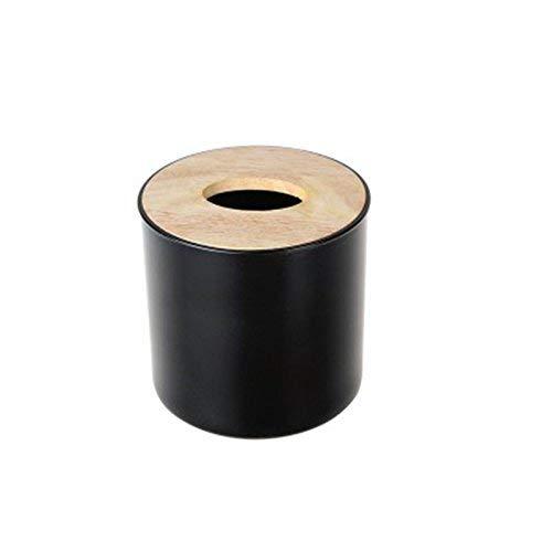 In the Dream Tissue-Box House Style Caja de Papel Papel Papel Redonda Europea Creativa Caja de pañuelos de Madera de Roble Simple hogar Tubo de Papel Rollo Sala de Estar Cuarto de baño (Tamaño: C) (tamaño : C) 20161e