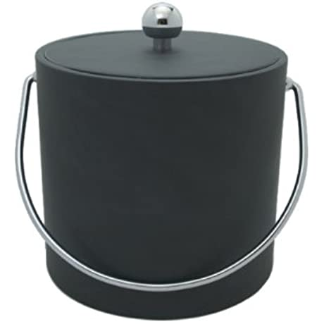 Mr Ice Bucket 3 Quart Leatherette Ice Bucket Saba Gray