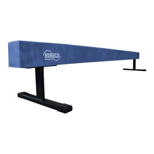 Blue 8ft 12in High Suede Gymnastics Balance Beam