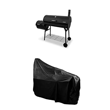 Char-Broil American Gourmet Offset Smoker, Deluxe + Cover