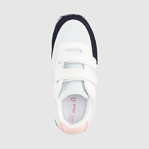 La Redoute Collections Flache Sneakers mit Klettverschluss Blau + Rosa