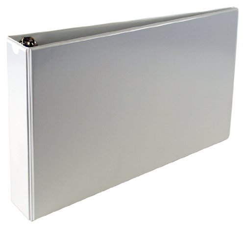 11x17 A3 2'' Angle-D 3-Ring Vinyl View Binder with no thumb boosters (White)