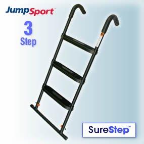 JumpSport SureStep 3-Step Trampoline Ladder | Powder Coated & UV Treated for Lasting Weather Protection | Sturdy Design, Large, Flat Platform Steps by JumpSport