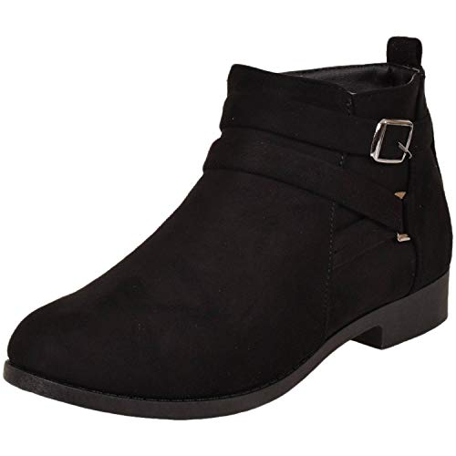 Chaussons Femme Shoes Emma Black Ls0328 By Suede Montants Tq4IxE1Iw