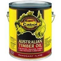Cabot Stain - Cabot Stains 3459 Australian Timber Oil Penetrating Formula, 1 gallon, Mahogany Flame