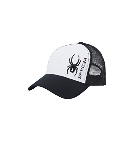 - Spyder Men's Brody Cap, White/Black/Black, One Size