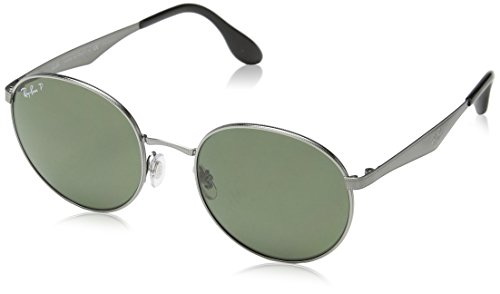 Ray-Ban METAL MAN SUNGLASS - SHINY GUNMETAL Frame DARK POLAR GREEN Lenses 51mm - Sunglasses Stylish 2016