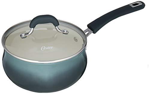 Oster Corbett Forged Aluminum Sauce Pan W/Lid – Ceramic Non-stick – Induction Base – Soft Touch Bakelite Handle, 3 Qt…