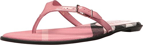 BURBERRY Meadow Signature Plaid Flip Flops (39.5 B EU, Berry - Burberry Pink
