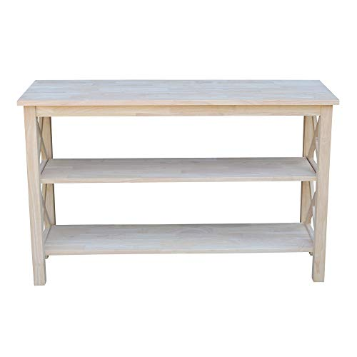 Table Console Unfinished - International Concepts OT-70S Hampton Console or Sofa Table Unfinished