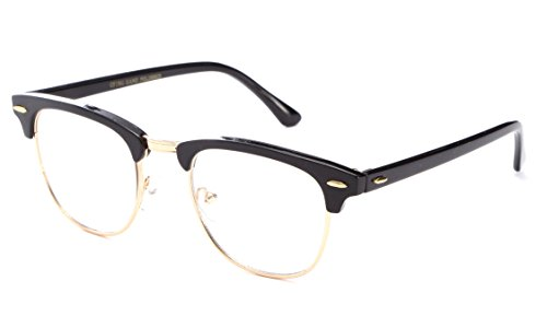 [Newbee Fashion® - Hot Sellers Nerd Geeky Trendy Cosplay Costume Unique Clear Lens Fashionista] (Cute Unique Costumes)