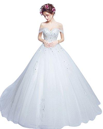 Sweetheart Evening Long Wedding Brides BessWedding Dresses Women's Lace Ivory for vFR4nZq