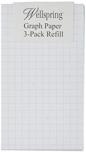 Wellspring Flip Note Refill Pad, Graph Paper, 3 per pack (2205)