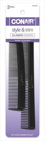 Conair Hard Rubber Pocket And Barber Comb Pack Of 3