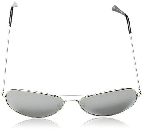 de Argenté Miroir d'aviateur soleil Lunettes Eyewear Verre Métal Argenté en Structure Unisexe World métal en q6gxEwRU