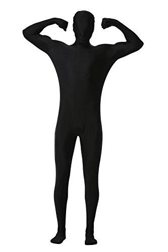 1stvital Men's Full Body Tights Skin Suit Lycra Spandex Zentai Bodysuit Costume, Black M