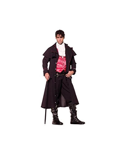 Underwraps Costumes Men's Vampire Costume - Count, Black/Red/White, One Size - Grim Reaper Plus Size Adult Mens Costumes