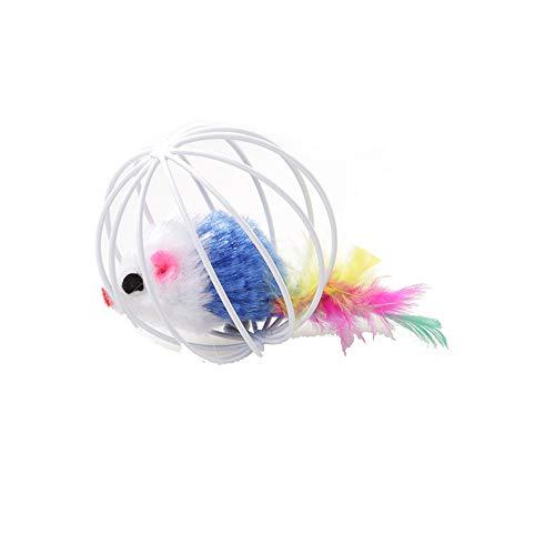Onior ペットキャットキツンおもしろい遊びおもちゃのティール偽のマウスケースボールのマウスラップの商品画像