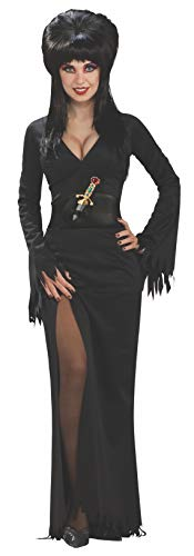 (Elvira Mistress of the Dark Full-Length Dress, Black, Standard)