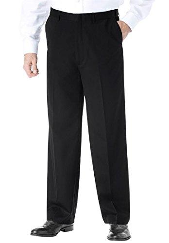 Kings' Court Men's Big & Tall No Hassle Plain Front Expandable Dress Pants,