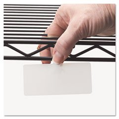 Wire Rack Shelf Tag, Side Load, 3-1/2 x 1-1/2, White, 10/Pack (2 Pack)