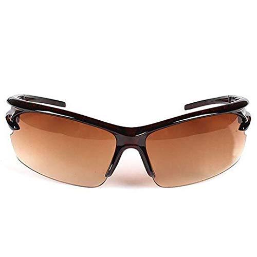 (Sports Bicycle Road Bike MTB Sunglasses Men Women Cycling Sunglasses Eyewear Safety Goggle Transparent Champagne)