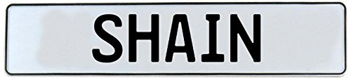 Vintage Parts 751265 White Stamped Aluminum Street Sign Mancave Wall Art (Shain), 1 (Shain Wall)