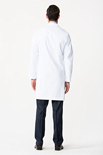 Men's E. Wilson Slim Fit M3 White Lab Coat- Professional Fit With Performance Fabric - Size 36 by Medelita (Image #1)'