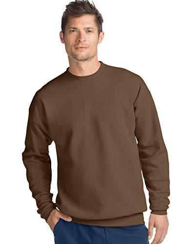(Hanes Mens ComfortBlend EcoSmart Crew Sweatshirt, L, Army Brown)