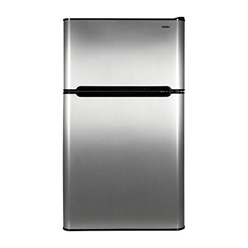 Haier 3.2 cu ft Refrigerator, Virtual Steel