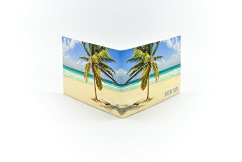 Riviera Maya Palm Tree' minimalist paper wallet. Great gift for men!