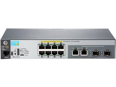 HP 2530-8G-PoE+ Switch - Switch - Managed - 8 x 10/100/1000 (PoE+) + 2 x Combo Gigabit SFP - Desktop, Rack-mountable, Wall-mountable - PoE+
