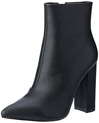 BILLINI Women's Mazara High Heel Boot, Black, 10 AU