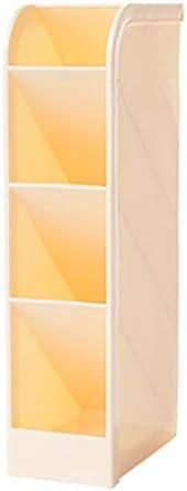 Multifunktionaler Desktop-Organizer, DIY Desk Tidy Storage Cabinet mit 4 Gittern, Kann horizontal oder vertikal platziert werden, Platzieren Sie Stifte und kleine Gegenstände (5 * 9 * 20 cm, gelb)
