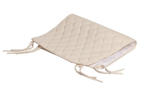 American Baby Company Waterproof Quilted Sheet Saver Cover made with Organic Cotton, Natural Color (Natural Color Bedding)