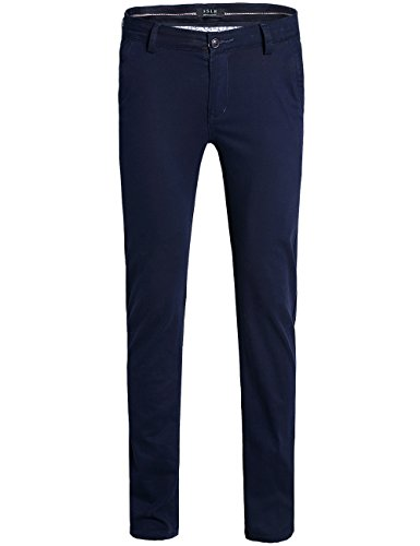 Autumn New Men's Business Casual Slim Trousers(Navy Blue) - 2