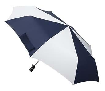 Totes Golf Size Auto-Open/Close Umbrella, Navy and White