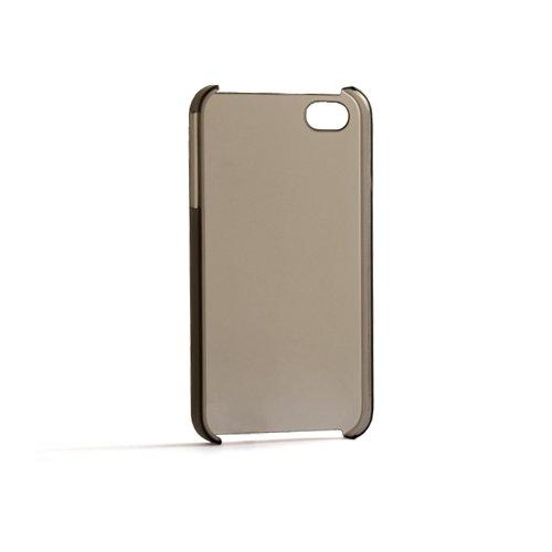System-S Crystal Case Hard Cover Tasche Schuz Hülle Transparent Schwarz für Apple iPhone 4
